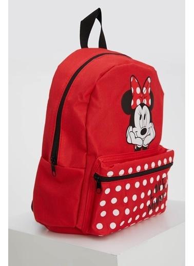 DeFacto Kız Çocuk Minnie Mouse Lisanslı Sırt Çantası Kırmızı